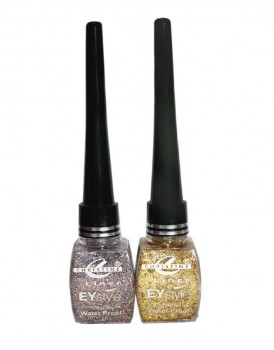 Pack Of 2 - Glitter Eye Liner - Multicolour