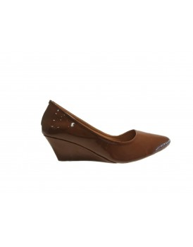 Chocolate Brown Ladies Court Shoes For Women