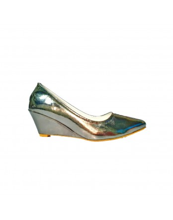 Silver Grey court shoes pumps for women