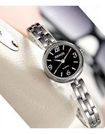 Black and Sliver Chain Ladies  Wrist Watch