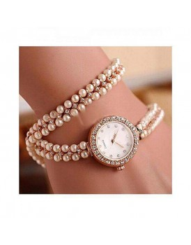 BEAUTIFUL PEARL BRACELET STYLE FASHION WATCH FOR GIRLS/WOMEN