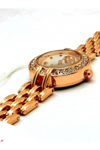 LOVE DIAL STAINLESS STEEL GOLDEN COPER FASHION WATCH FOR WOMEN
