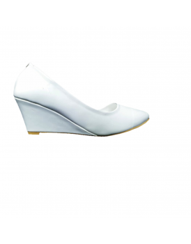 White casual court shoes pumps for women